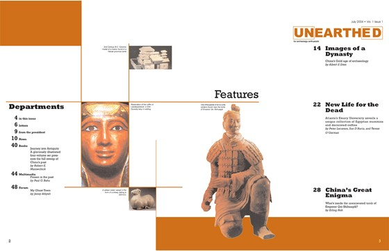 Layouts: Unearthed Magazine
